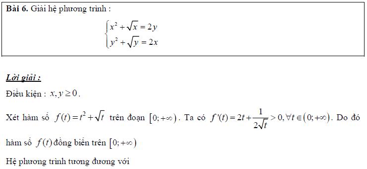 các hướng khi giải hệ phương trình lớp 10