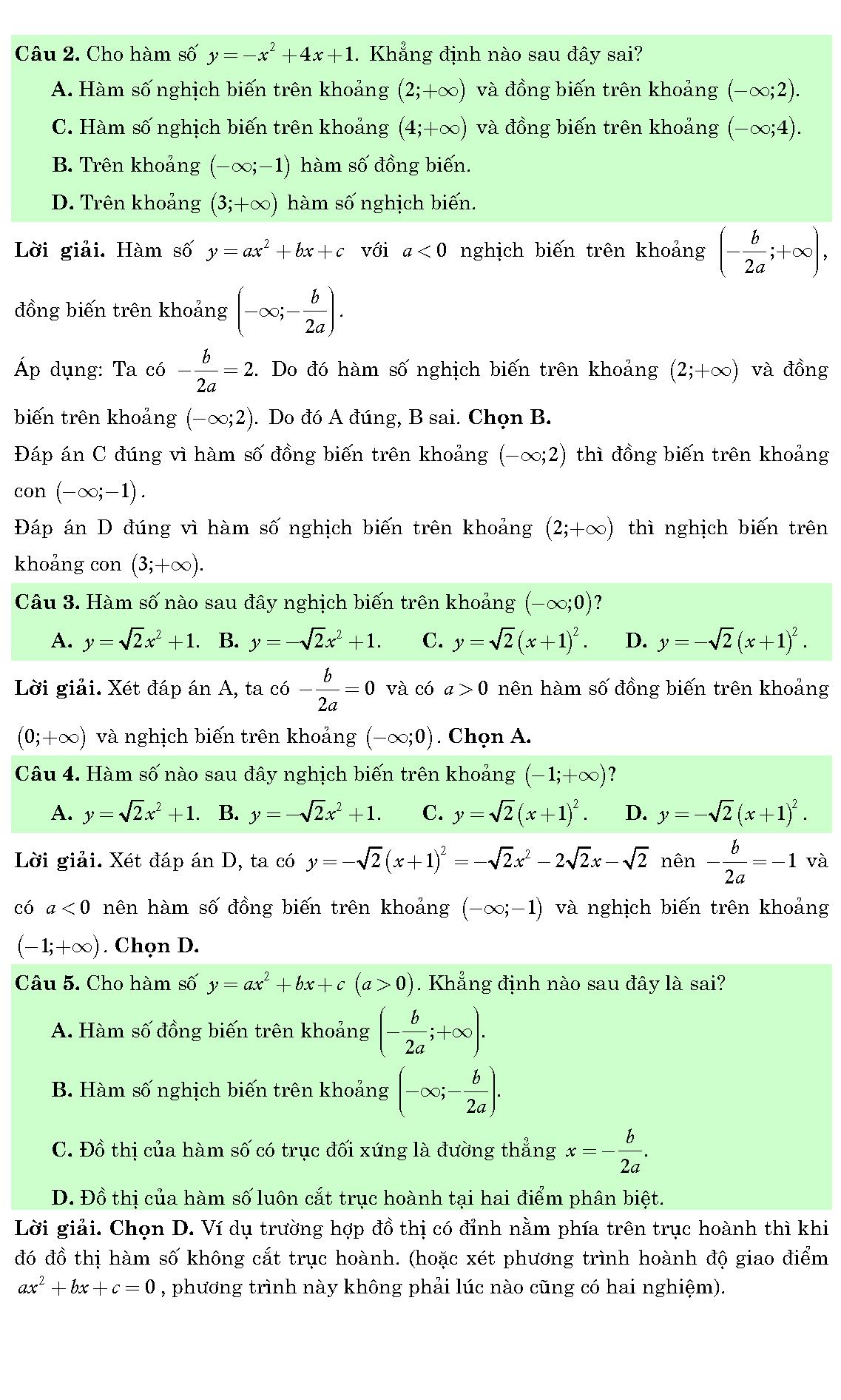bài tập đồ thị hàm số khó