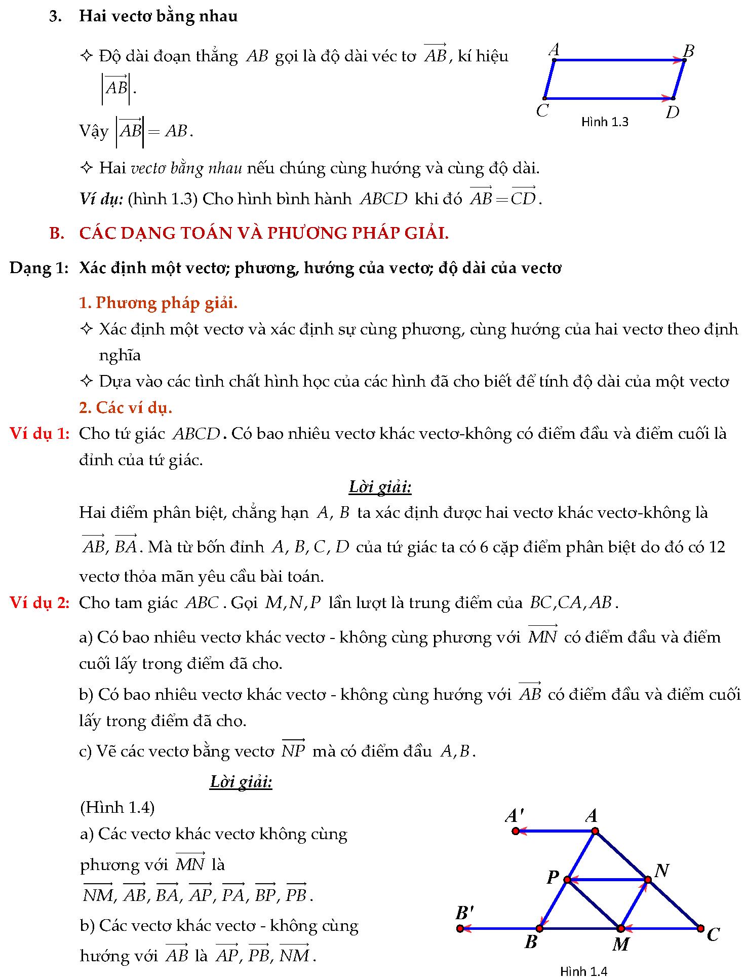 Bài tập tổng hiệu hai vectơ
