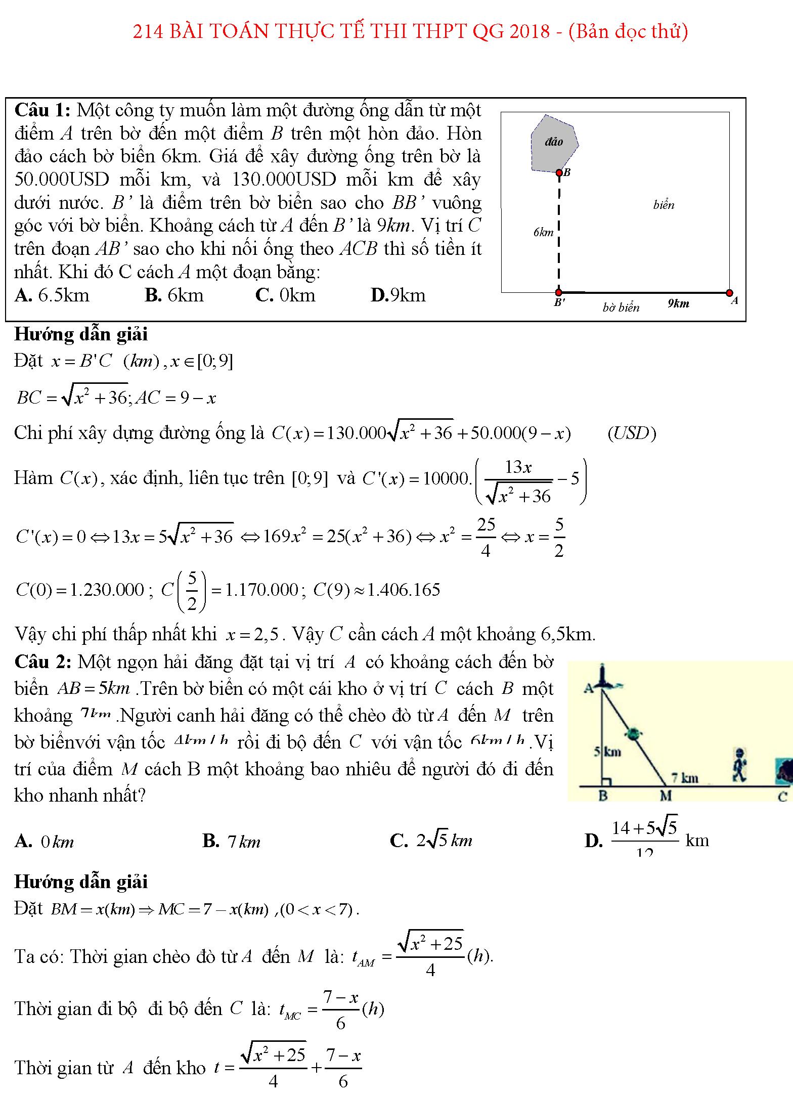 124 bài toán thực tế