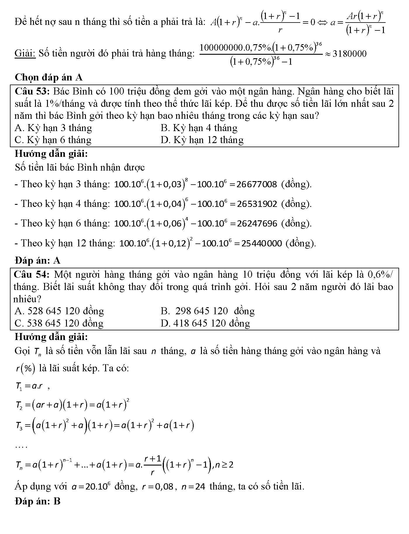 toán ứng dụng thực tế