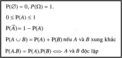 Tính chất của xác suất