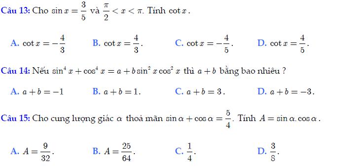 Trắc nghiệm chương 3: Phương trình và hệ phương trình