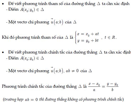 Viết phương trình tham số và chính tắc của đường thẳng
