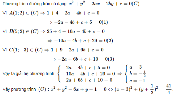 bài tập phương trình đường tròn lớp 10