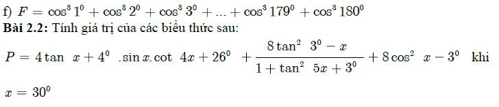 Xác định giá trị lượng giác của góc đặc biệt tiếp theo
