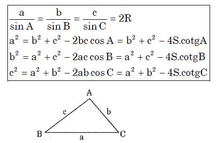 Hệ thức lượng trong tam giác lớp 10