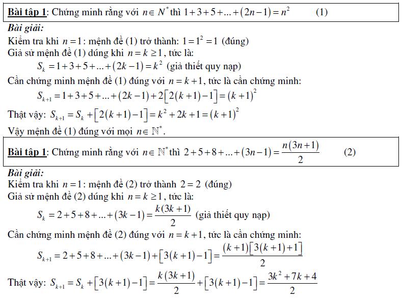 phương pháp qui nạp toán học