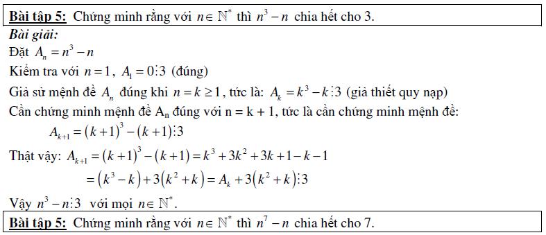 bài tập qui nạp toán học