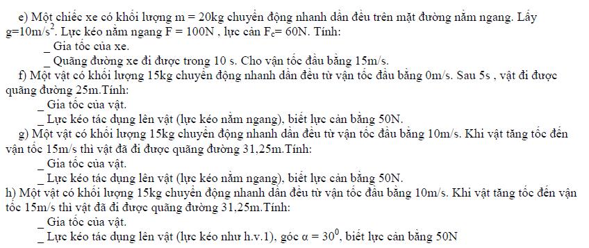 bài tập vật lý 10 chương 2 có lời giải chi tiết
