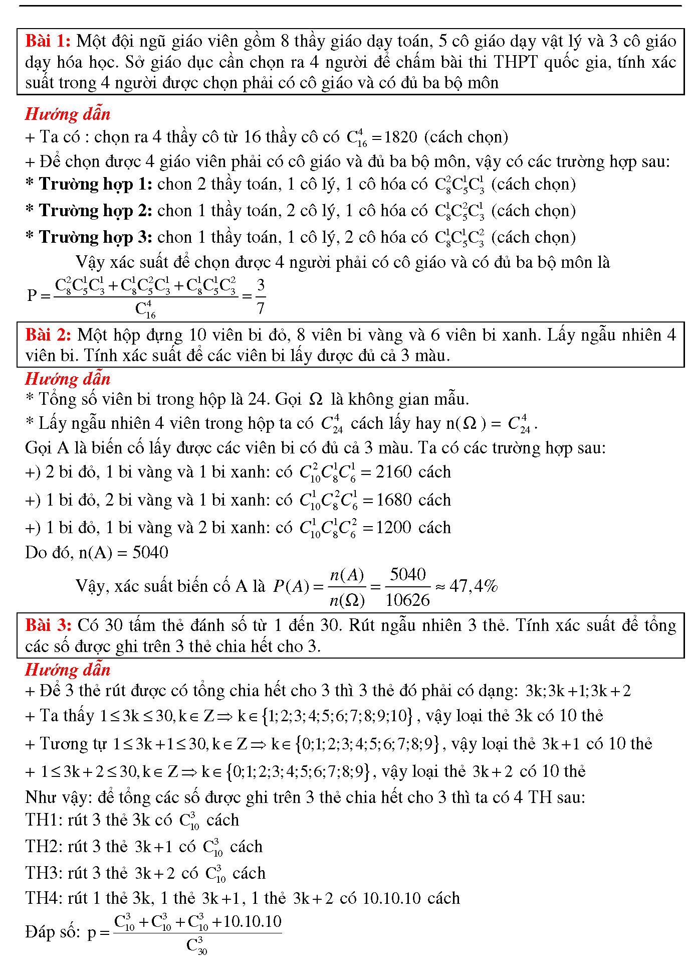 Cách tính xác suất