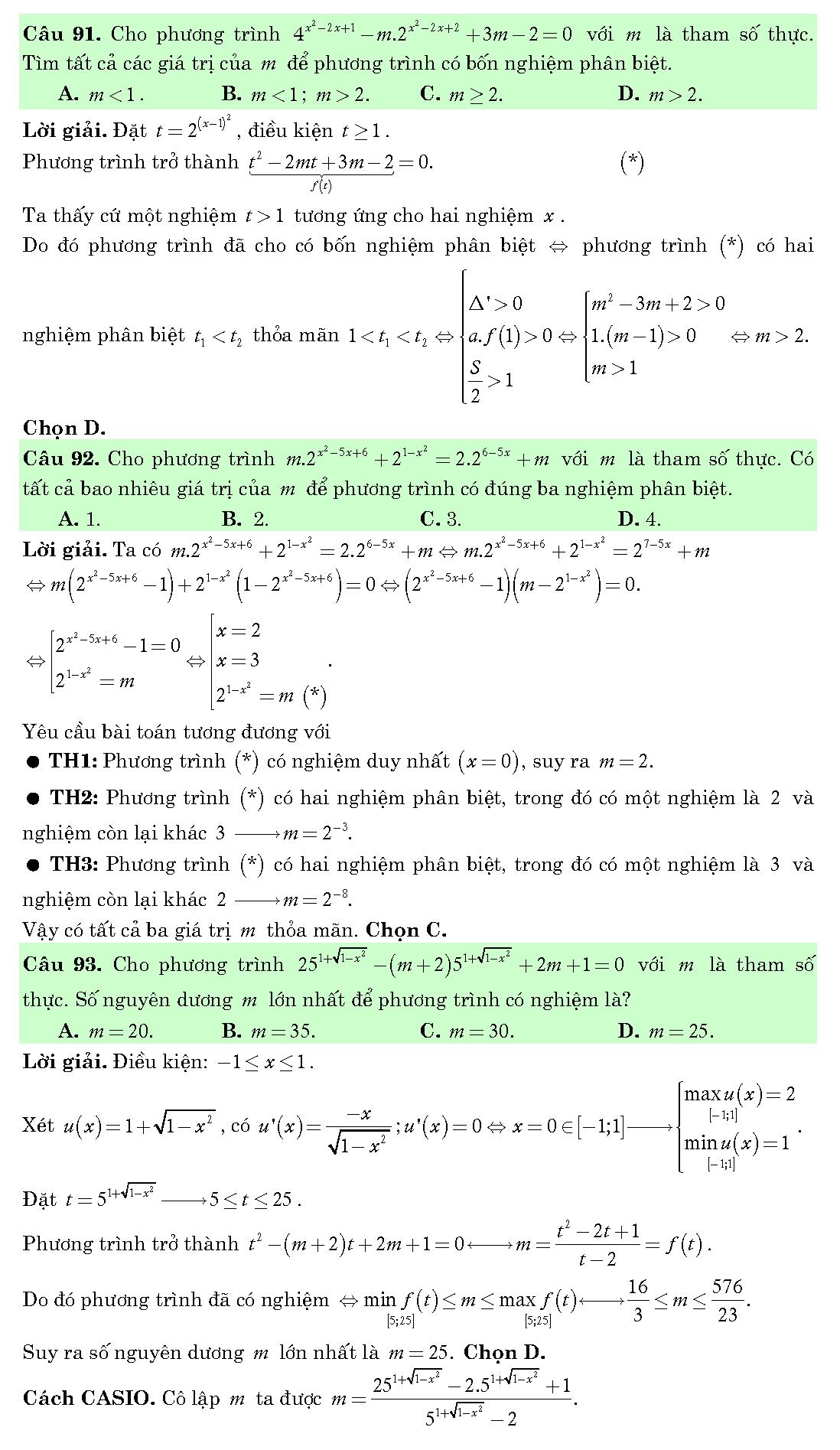 bài tập hàm số mũ và logarit
