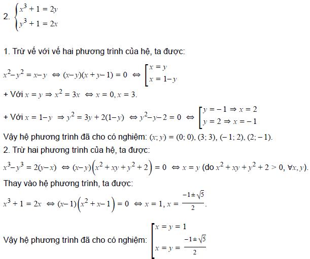 Hệ phương trình đối xứng loại 2