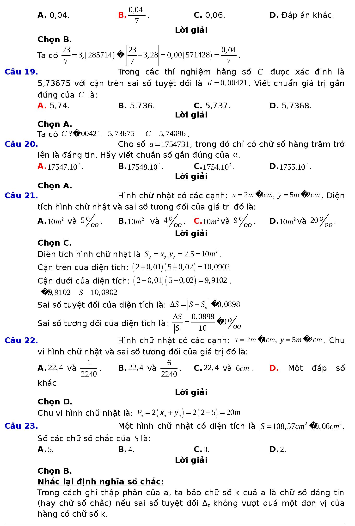 toán 10 bài 5 chương 4