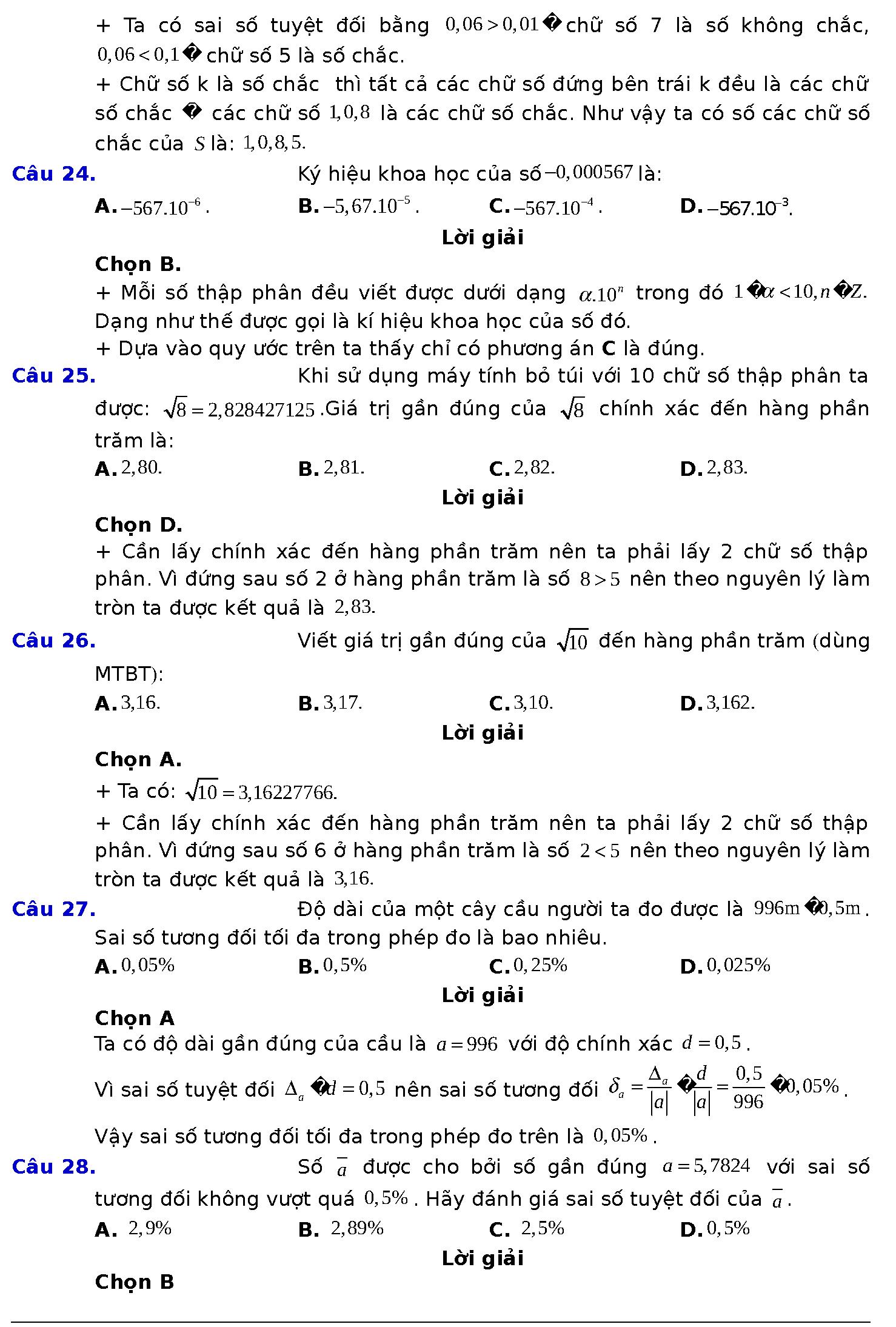 ôn tập chương 1 đại số 10