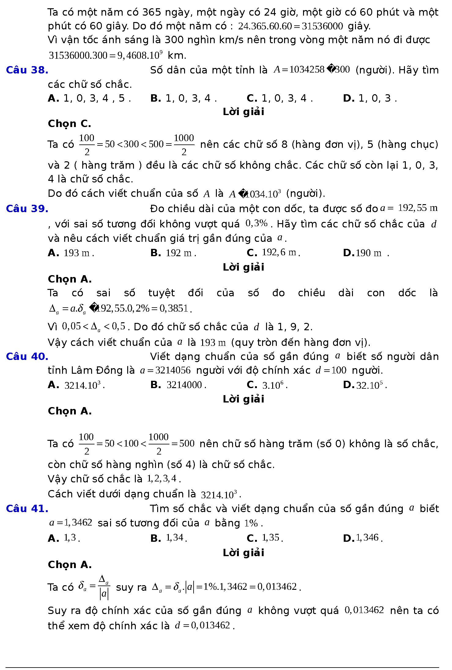 bài giảng toán 10 số gần đúng sai số