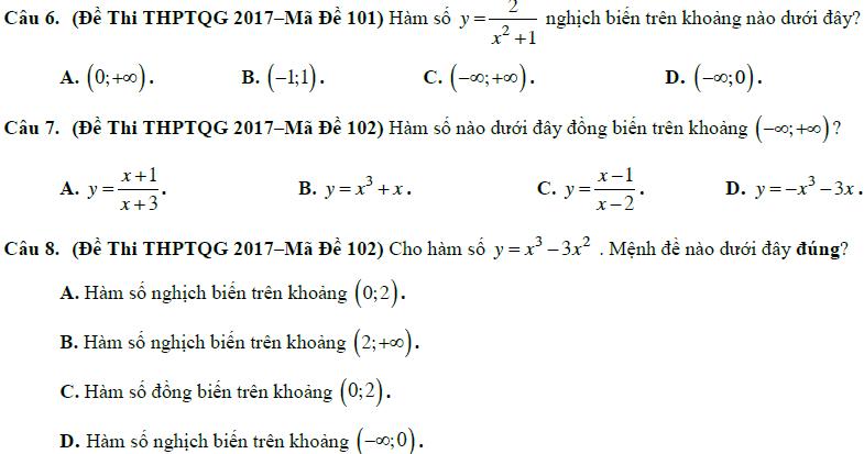xét tính đơn điệu của hàm số lớp 10