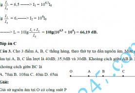Bài tập Sóng âm có lời giải và đáp án chi tiết nhất full pdf