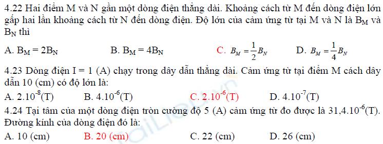 Từ trường của một số dòng điện có dạng đơn giản
