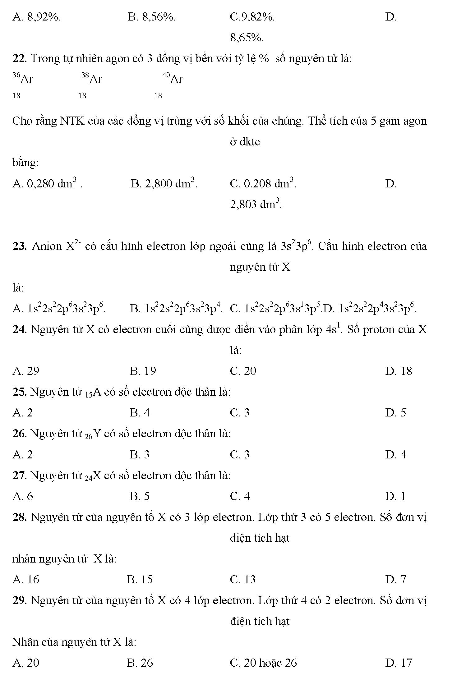 trắc nghiệm hóa 10 bài clo