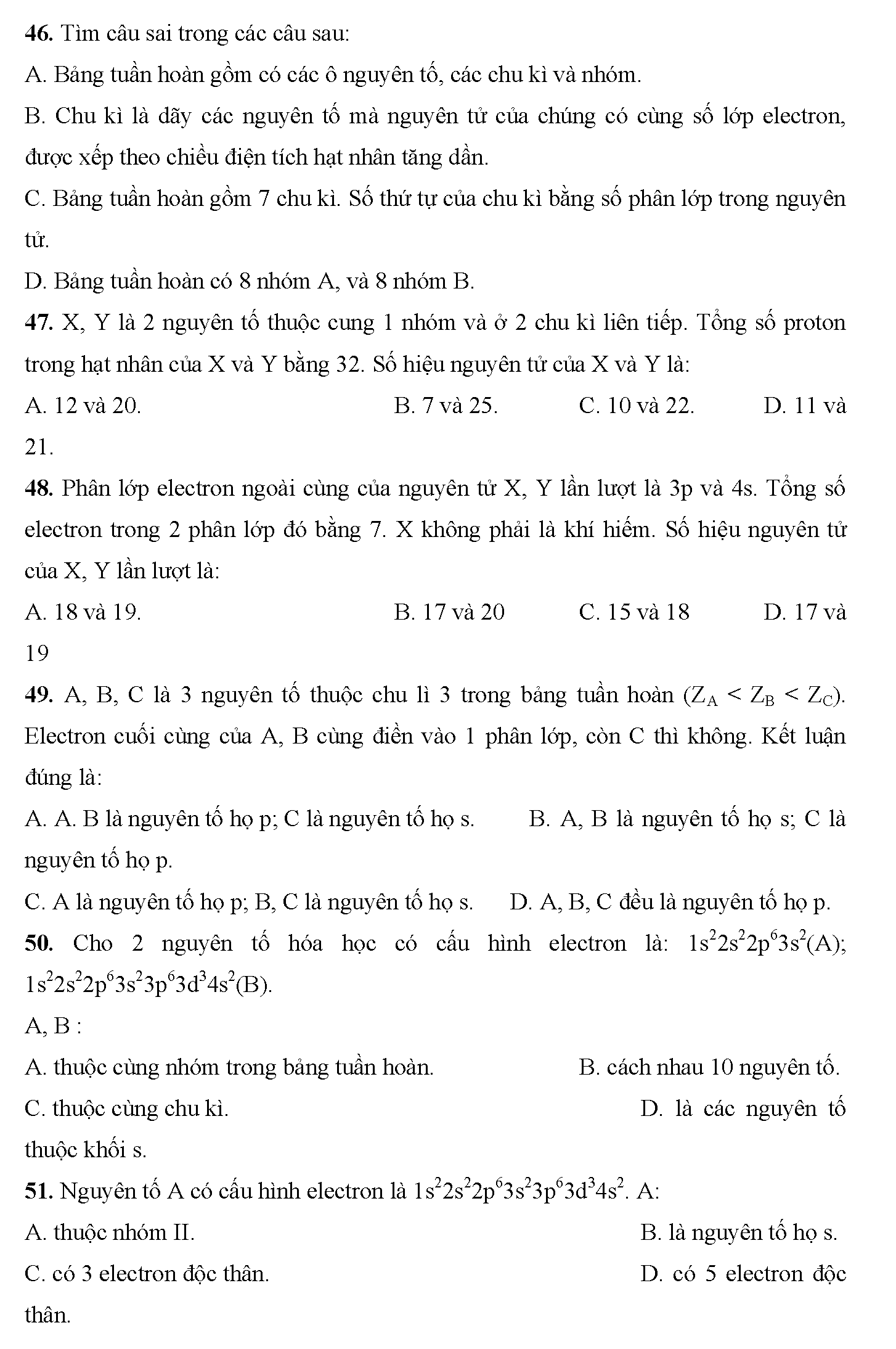trắc nghiệm hóa 10 chương 6