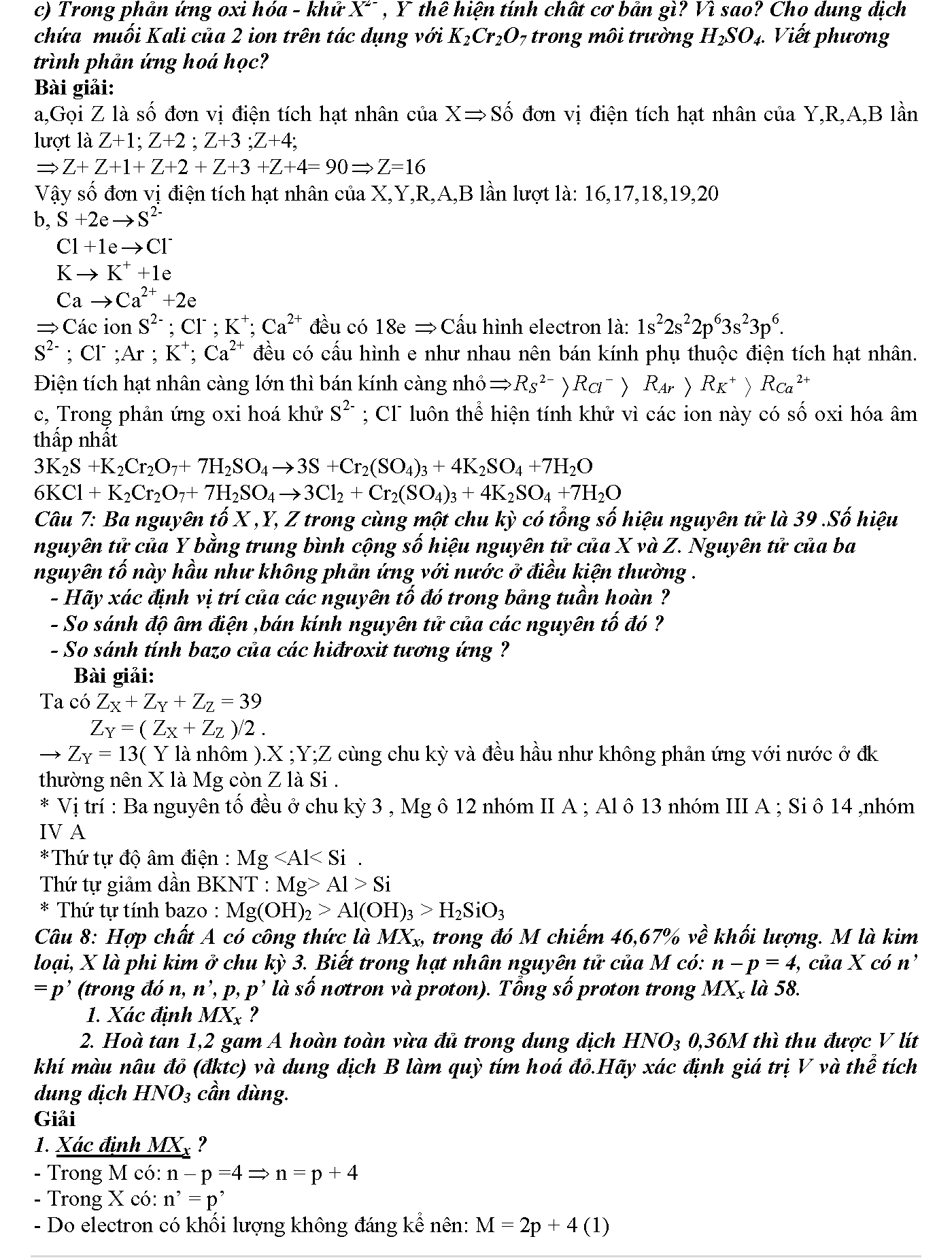 bài tập về nguyên tử khối