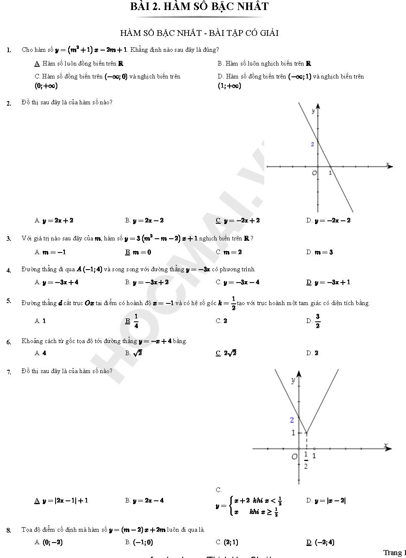 toán 10 chương 2 bài 1 hàm số