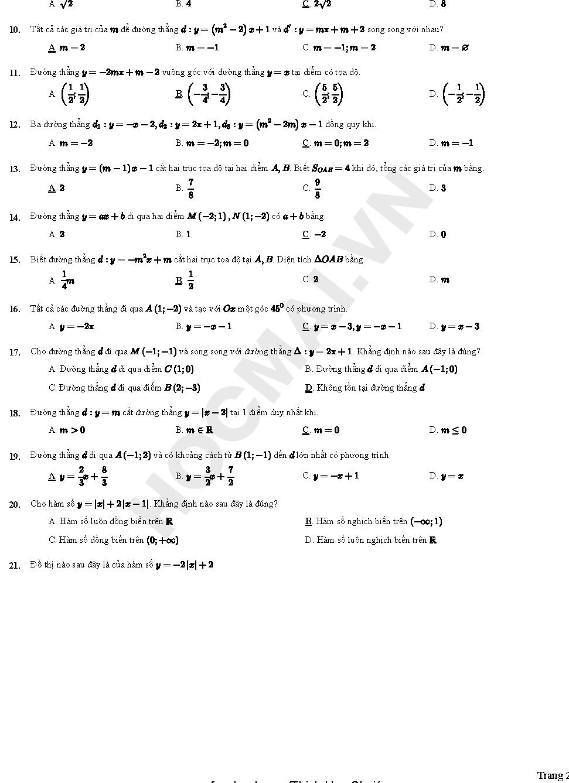 toán 10 bài 2 chương 3