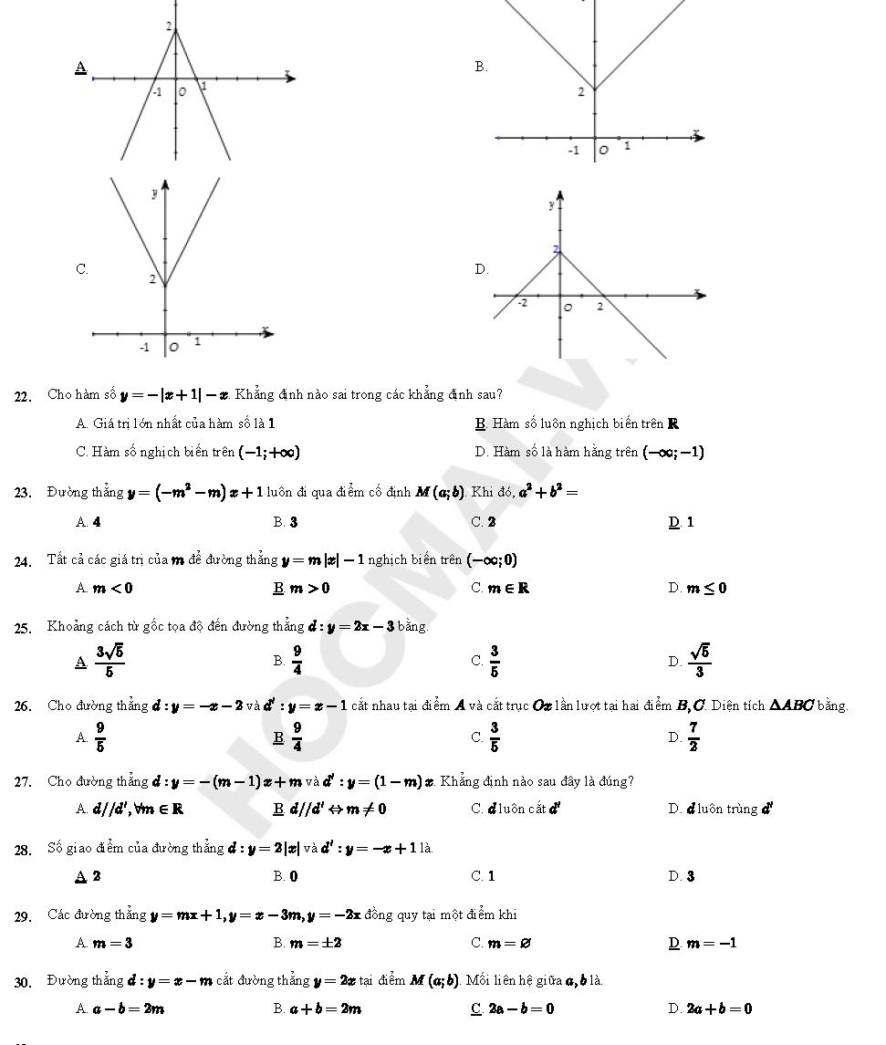 hàm số bậc 2 lớp 10 trang 49